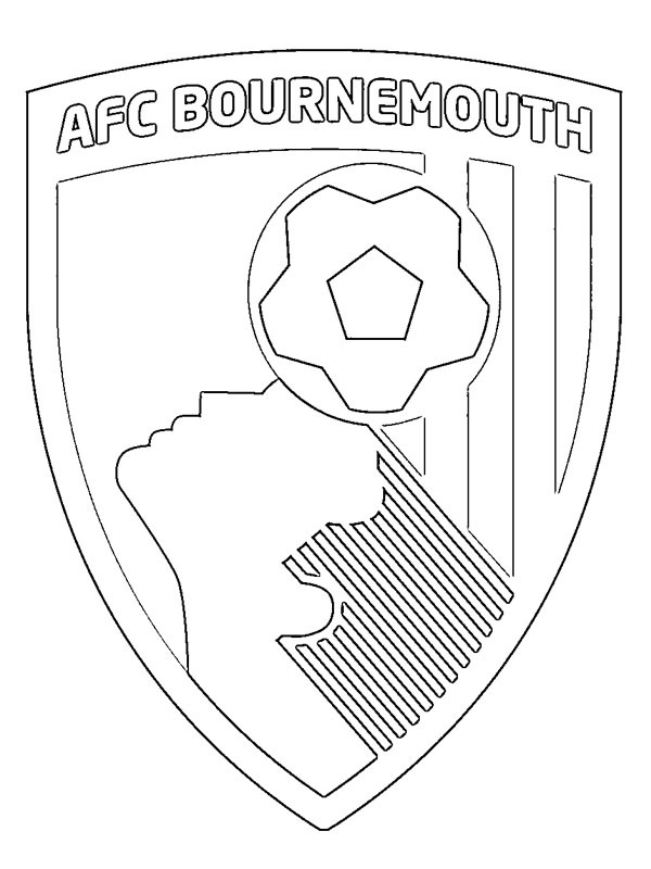para colorear Athletic Football Club Bournemouth