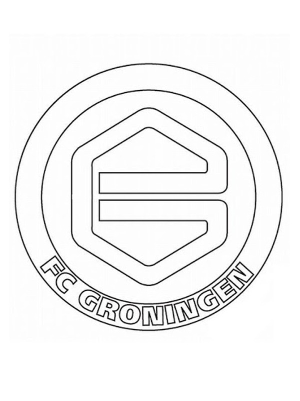 para colorear Football Club Groningen