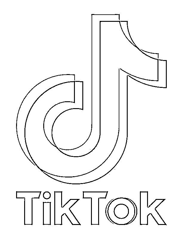 Dibujos Para Colorear Logo De Tiktok Dibujosparaimprimir Es